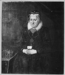 Portret van koningin Sophie van Denemarken (1557-1631), weduwe van koning Frederik II