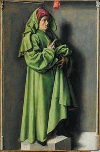 De profeet Jesaja (binnenzijde); Maria Magdalena (uit een 'Noli me tangere') (buitenzijde)