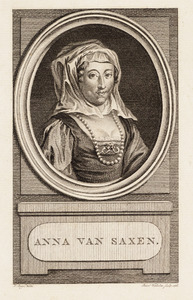 Portret van een vrouw ten onrechte genaamd Anna van Saksen (1544-1577)