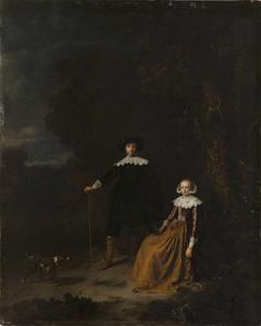 Dubbelportret van een echtpaar, mogelijk Johan Wittert van der Aa en Ida Popta