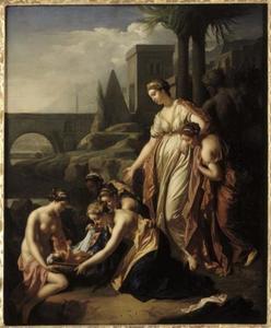 Mozes wordt gevonden door de dochter van de farao (Exodus 2: 5-6)