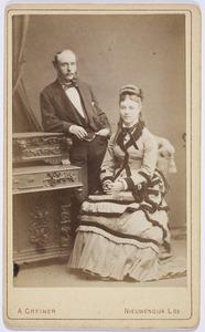 Portret van Annette Everts (1856-1876) en Ferdinand Louis Brenkman (1851-1915)