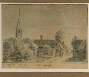 Het dorp Sluipwijk bij Gouda