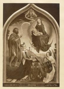 Maria met kind verschijnt aan Jeanne van Frankrijk, hertogin van Bourgondië