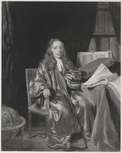 Portret van een onbekende geleerde in zijn studeerkamer