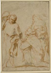 Studie van drie of vier heiligen