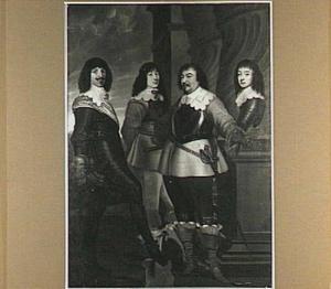 Portret van de vier graven van Nassau