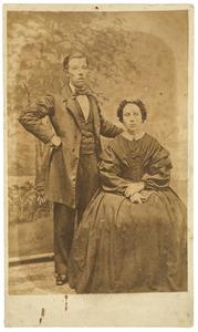 Portret van Laurens Gijsbertus de Leur (1842-1868) en een onbekende vrouw