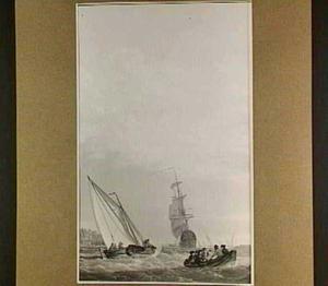 Vertrek van het fluitschip 'De Dordrecht'