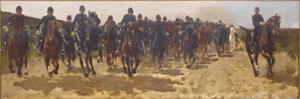 Cavalerie charge van de Huzaren