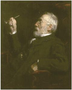 Portret van de schilder Jozef Israëls (1824-1911)