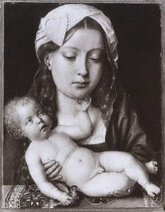 Maria met kind en een puttertje