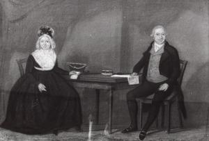 Dubbelportret van een echtpaar