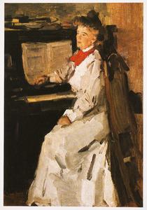 Portret van Lyda Sluyterman aan de piano