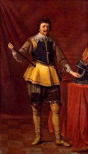 Portret van stadhouder Frederik Hendrik van Oranje-Nassau ten voeten uit