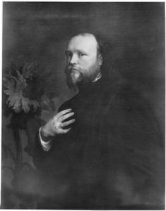 Portret van Sir Kenelm Digby met een zonnebloem