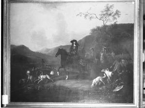 Ruiterportret van Willem III van Oranje-Nassau (1650-1702)