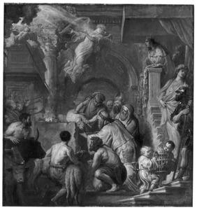 Salomo's offers bij de wijding van de Ark des Verbonds in de nieuwe tempel (1 Koningen 8:5)