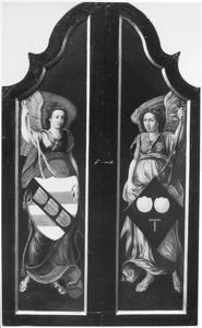 Twee engelen met wapenschilden