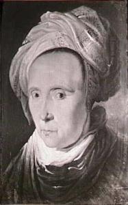 Portret van een vrouw met tulband