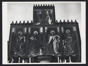 Maria Mediatrix met God de Vader en vier evangelisten