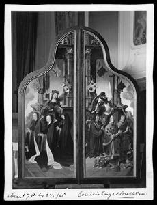 Willem Jan Kerstantsz. Stoop, Jan van Lochorst, Jacob Heerman Gerritsz. en de H. Joris; Adriana, Hendrika en Margaretha van der Does en de H. Maria Magdalena