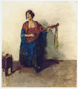 Portret van de Guusje van Dongen, dochter van de schilder Kees van Dongen