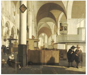Interieur van de Oude Kerk te Amsterdam