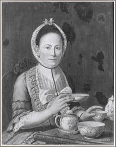 Portret van een vrouw, mogelijk uit de familie Van der Slees (echtgenote van de kunstenaar Johannes Craco)