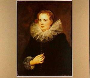 Portret van een Genuese dame