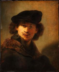 Zelfportret met fluwelen baret