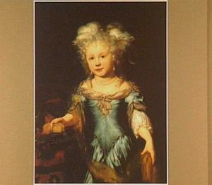 Portret van een jong meisje in een blauwe japon