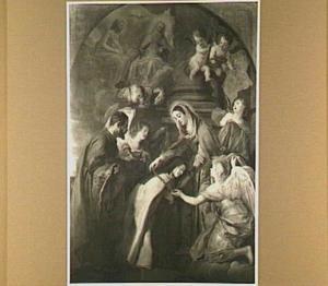 De H. Theresia van Avila ontvangt een gouden ketting en een kazuifel van de Madonna