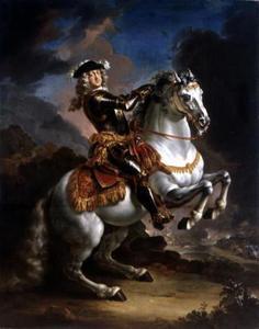 Ruiterportret van Johann Wilhelm, keurvorst van de Palts