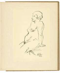 Zittend vrouwelijk naakt