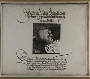 Portret van Catarina Pieters Spiegels op haar doodsbed