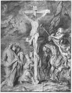 De gekruisigde Christus krijgt een spons met edik aangereikt (Johannes 19:29)