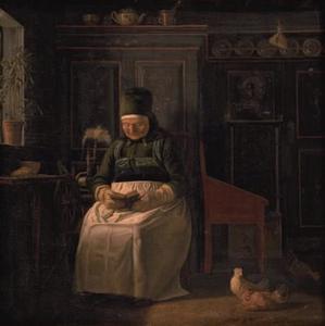 Kerstochtend bij een boerenvrouw