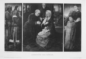 Triptiek met de aanbidding der koningen met stichter en H. Stephanus
