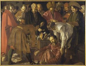 De dood van Ananias (Handelingen 5:1-10)