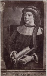 Portret van Bartolo Sentinati (1313/4-1357), Italiaans rechtsgeleerde (