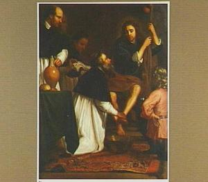 De H. Augustinus van Hippo wast de voeten van Christus