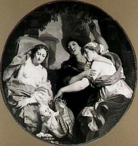 De dochters van Cekrops ontdekken Erechtonius (Ovidius,