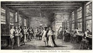 De lettergieterij van de firma Joh. Enschedé in Haarlem