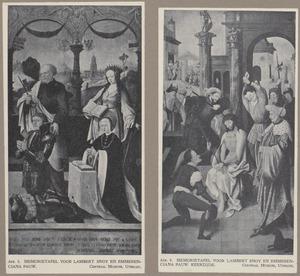 De HH. Petrus en Catharina met Lambert Snoy en Emmerentiana Pauw (binnenzijde); De bespotting van Christus (buitenzijde)