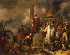 Het offer van Jerobeam voor het Gouden Kalf  (1 Koningen 13:1-5)