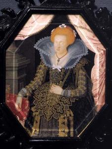 Portret van Kirsten Munk (1598-1630), vrouw van koning Christiaan IV van Denemarken