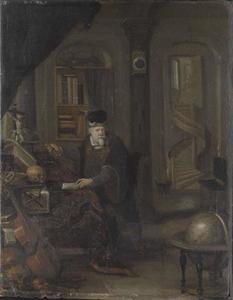 Hertog Augustus II in zijn studeerkamer