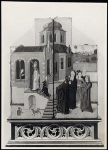 De Tempelgang van Maria (buitenzijde luiken)
