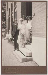 Huwelijksportret van Gregorius Johannes Lambert en Klasina Catharina Anema